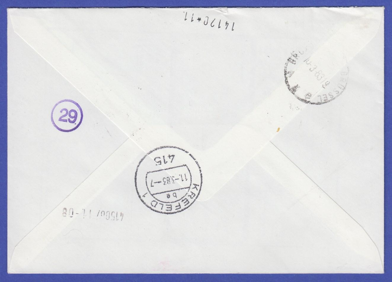 Brief Nach Belgien Kosten : Atm belgien endstreifen rarität p auf r express brief