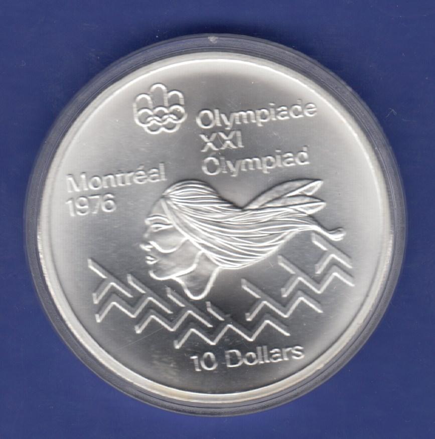 Kanada Silber Münze Olympische Spiele Montreal 1976 10 Dollar