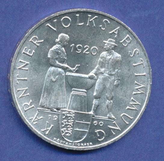 österreich 25 Schilling Silber Gedenkmünze 1960 Kärntner