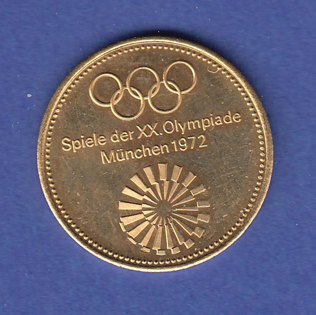 Goldmedaille Olympische Spiele 1972 Segelwettbewerbe Kiel 350g