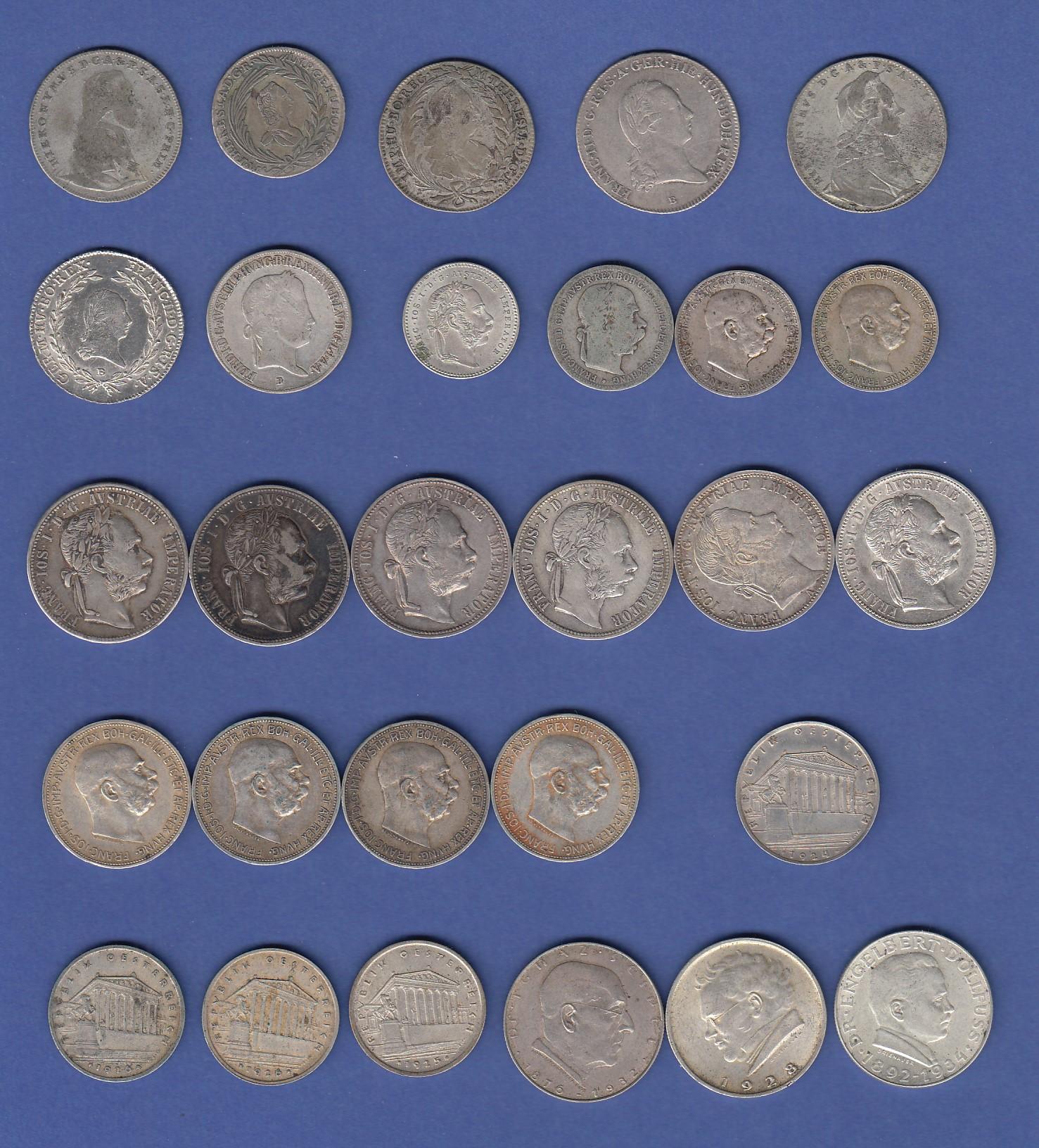 Lot 28 Alte österreich Münzen Vornehmilich Silber Ansehen