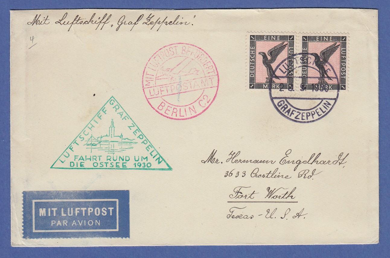 Brief Nach New York : Dt reich zeppelin lz ostseefahrt mef mi nr auf