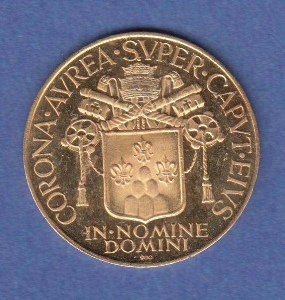 Papst Paul Vi Pontifex Maximus Kleine Goldmedaille 350g 900er
