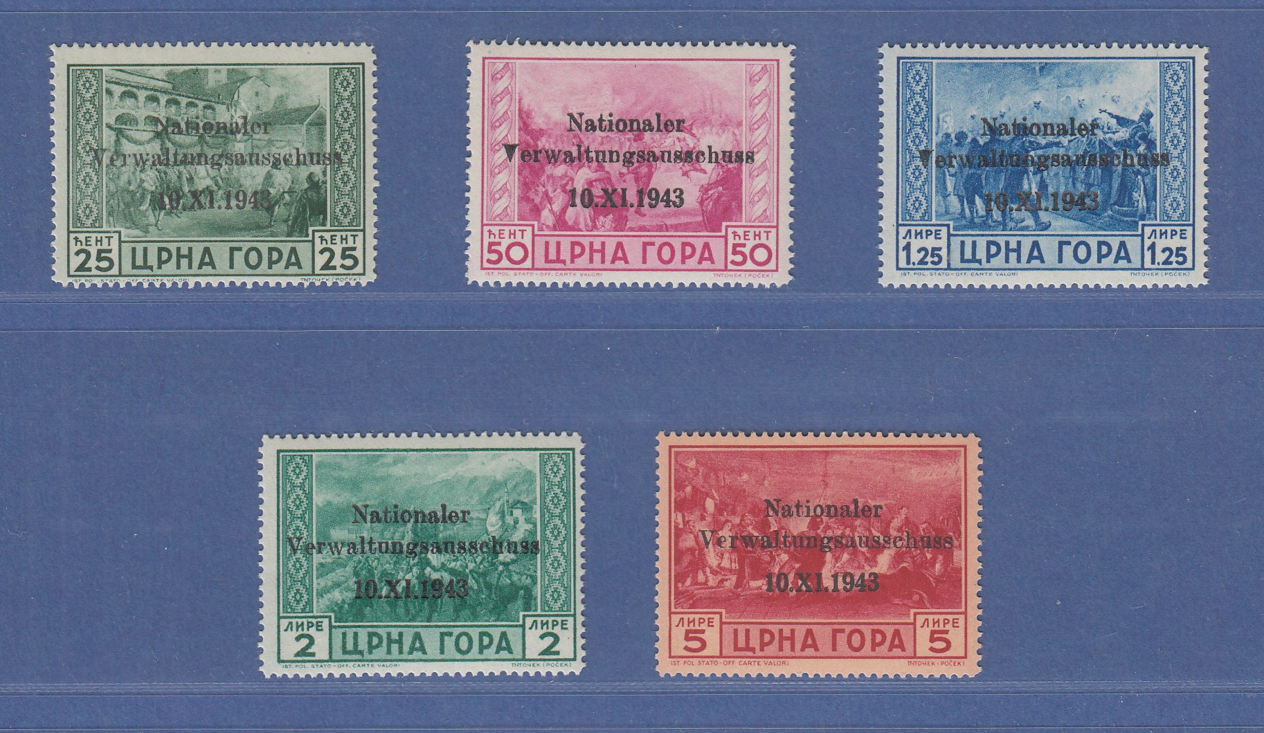 Stamp Philatelie Block 2a Sammeln Briefmarke Montenegro