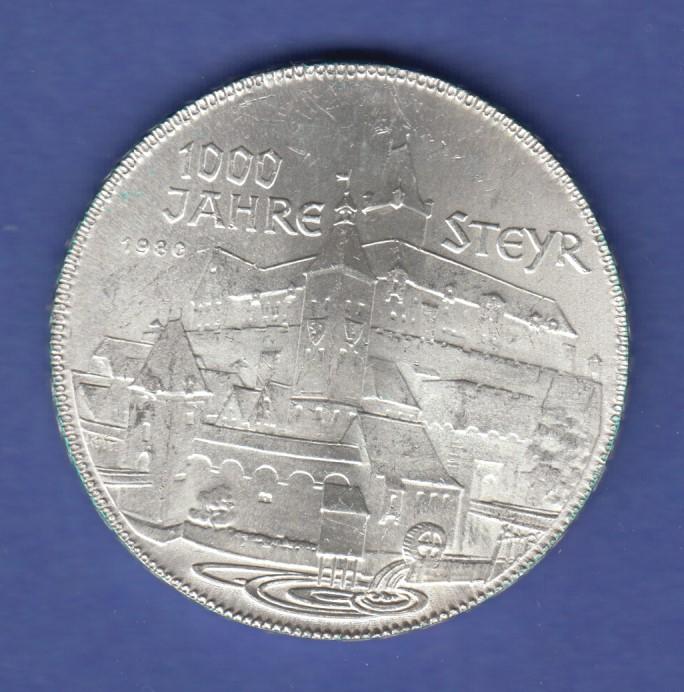 österreich 500 Schilling Silber Gedenkmünze 1980 1000 Jahre Steyr