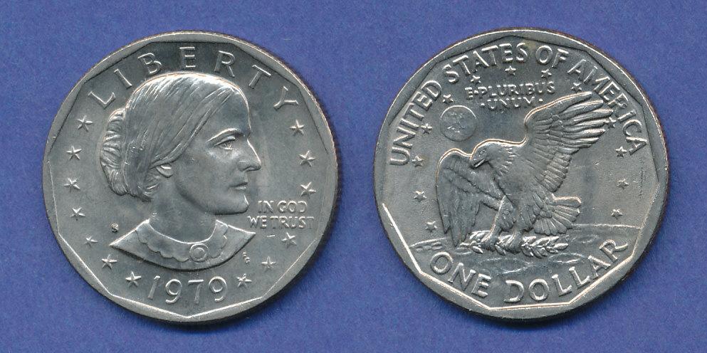 Usa 1979 1 Dollar Gedenkmünze 60 Jahre Frauenwahlrecht 10 Jahre