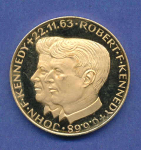 Goldmedaille Johnfkennedy Robert Kennedy 1054g 900er Gold
