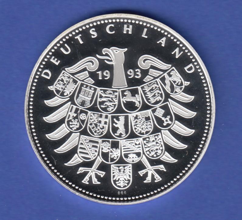 Silbermedaille Deutschland Einig Vaterland 1989 Weizsäcker Ag999 19
