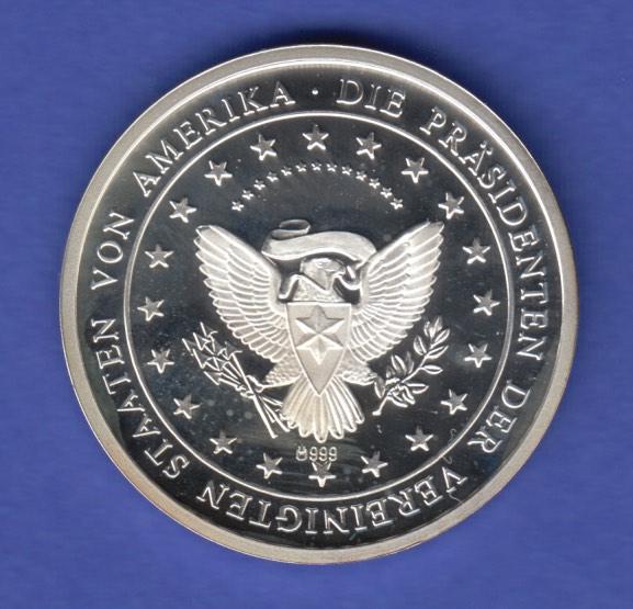 Silbermedaille John F Kennedy 35 Präsident Der Usa Ag999 83g