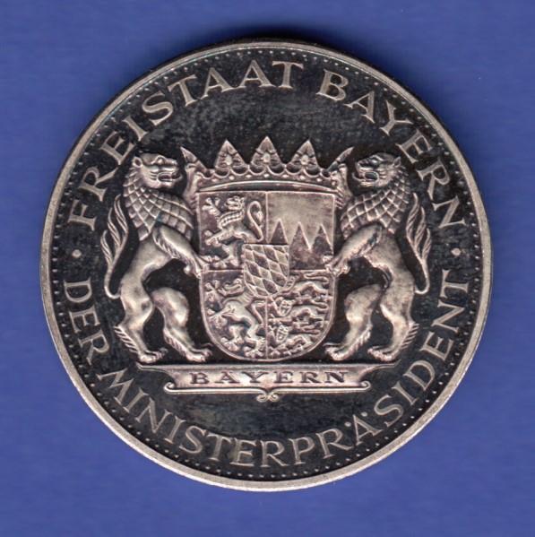 Silbermedaille Patrona Bavariae 1868 1968 Ag999 15g Tilman Dohren