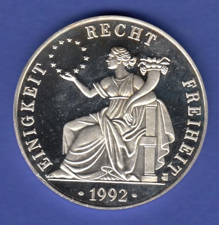 Ecu Silbermedaille Deutschland Einigkeit Recht Freiheit Ag999 31