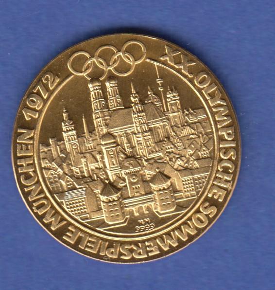 Goldmedaille München Stadtansicht Olympische Sommerspiele 1972 317g