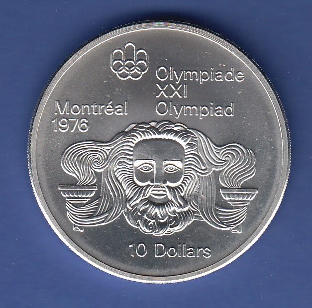 Kanada 1976 Olympische Spiele Montreal 10 Münze 484g 925er Silber