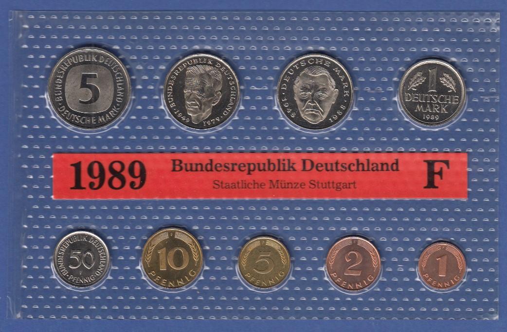 Bundesrepublik Dm Kursmünzensatz 1989 F Stempelglanz Tilman Dohren