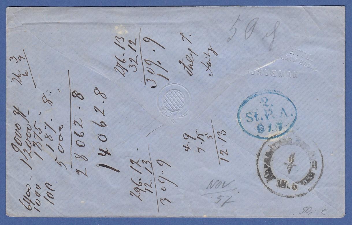 Brief Nach Hamburg Briefmarke : Altdeutschland hamburg schilling mi nr als ef