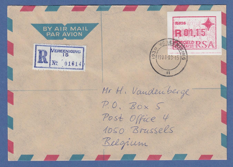 Rsa Südafrika Frama-atm Aus Oa P.001 Pretoria Wert 00.25 Auf Brief Nach Algerien Automatenbriefmarken