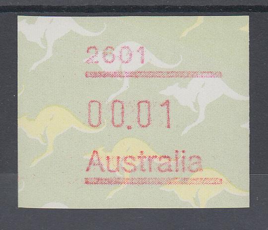 Australien Frama-atm 4 Ausgabe 1987 Ameisenigel Fehlverwendung Mit B-nummer **