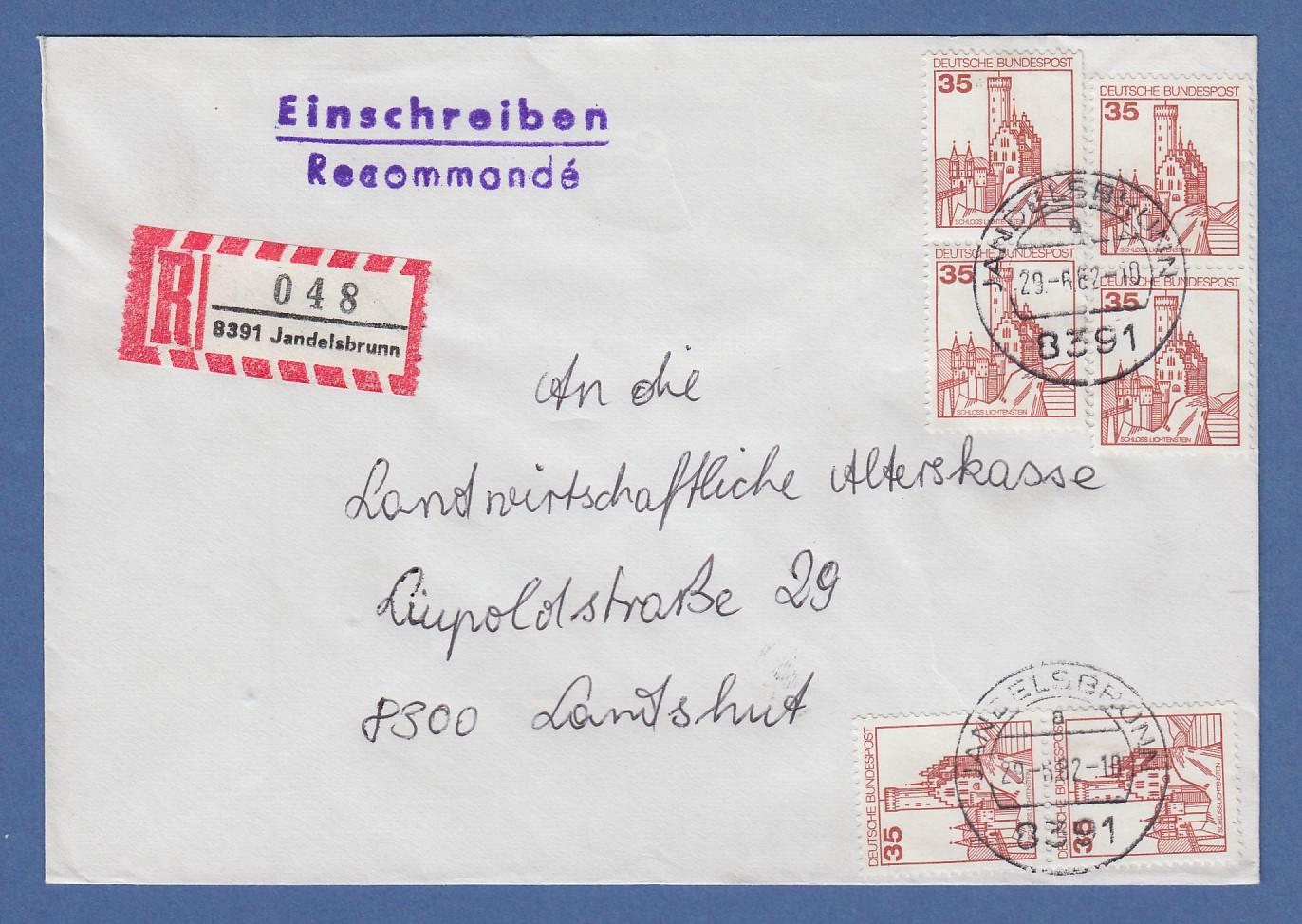 Briefmarken Europa 442-445 Sst Vatikan Fdc Einschreiben Minr