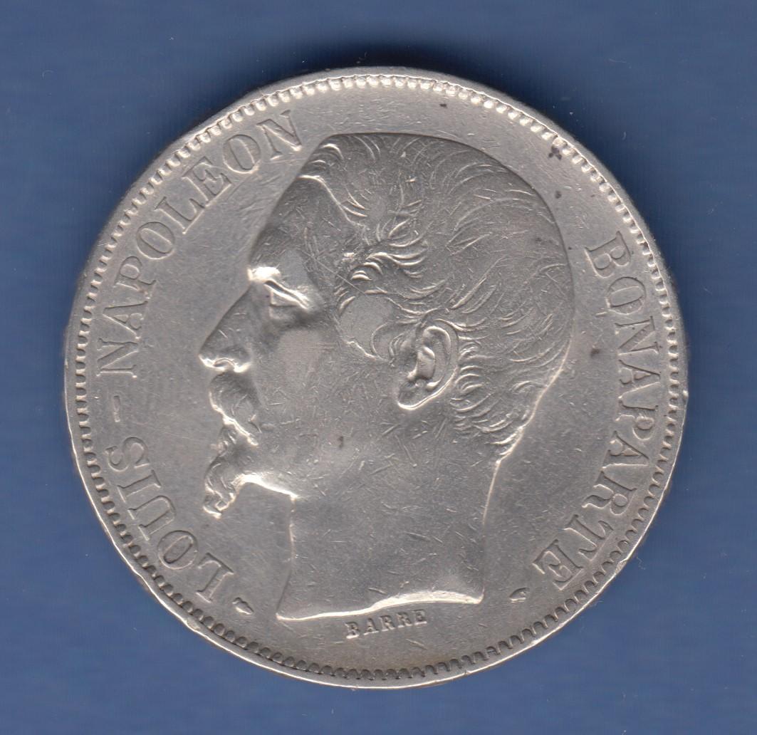 Münze Frankreich 5 Francs Silber 1852 A Napoleon Iii 1852 1870