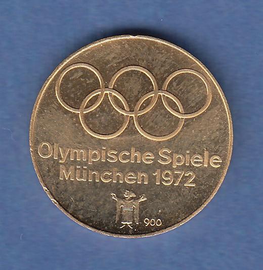 Goldmedaille Olympische Spiele 1972 Bogenschutze 4 52g 900er Gold Tilman Dohren Briefmarken Munzen