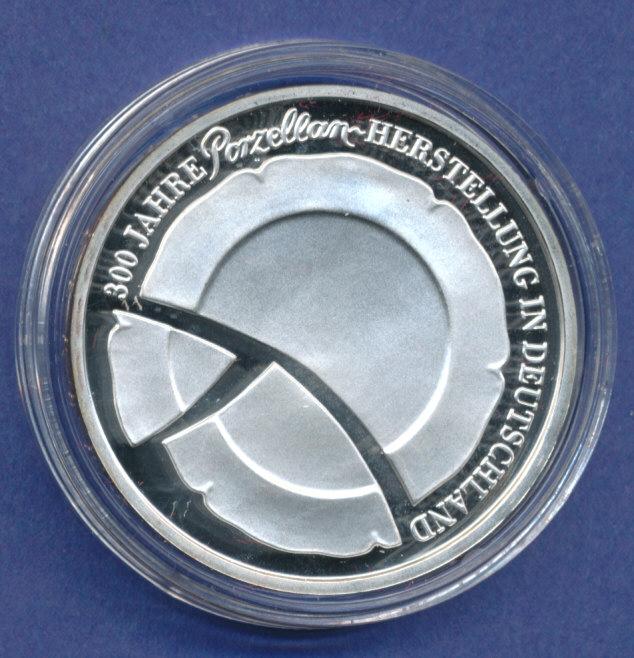 10 gedenkm nze pp porzellan herstellung polierte platte spiegelglanz tilman dohren. Black Bedroom Furniture Sets. Home Design Ideas