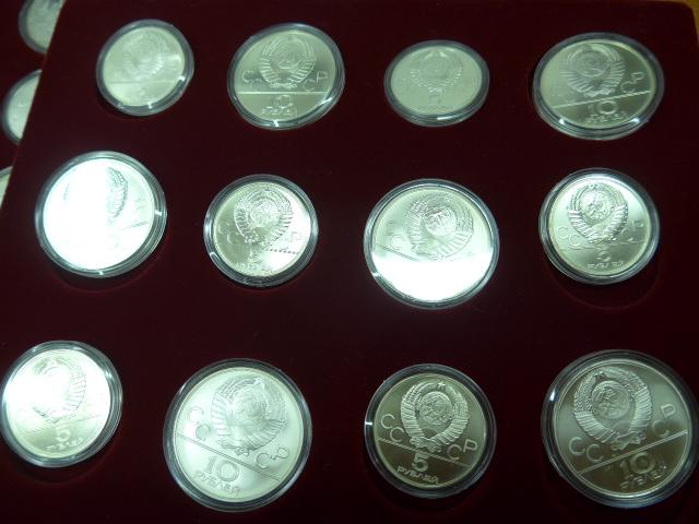 Olympische Spiele Moskau 1980 Kompletter Satz Alle 28 Silbermünzen