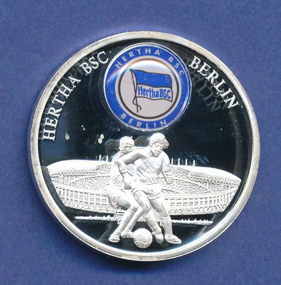 Fußball Fan Prägung Hertha Bsc Berlin Versilberte Medaille