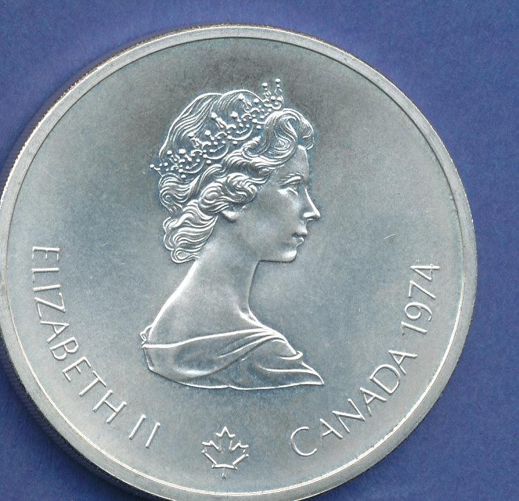 Kanada10 Dollar Olympia Silbermünze Montreal 1976 Zeustempel 48