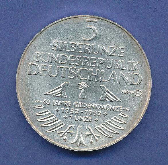 Silber Unze 40 Jahre Ausgabe Der Münze Germanisches Museum 1992 31